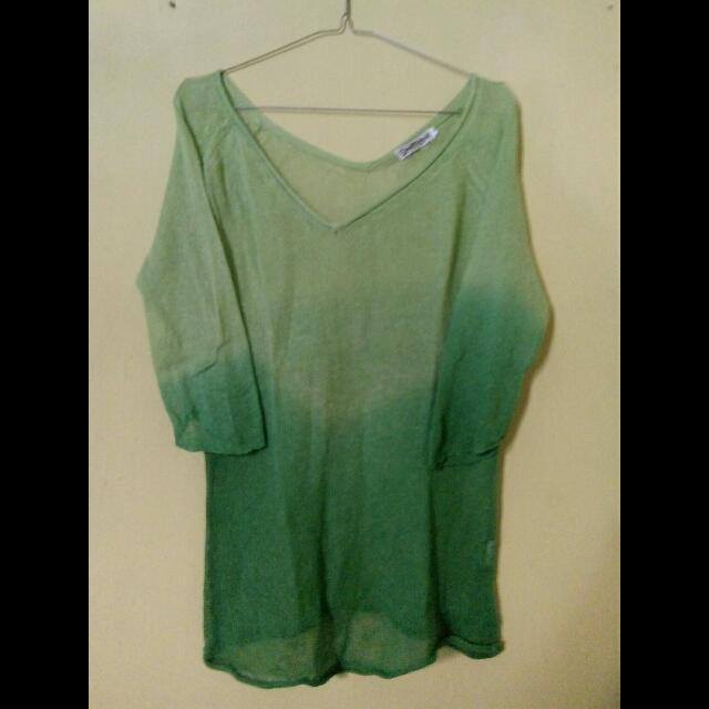 Ombre Knit Green
