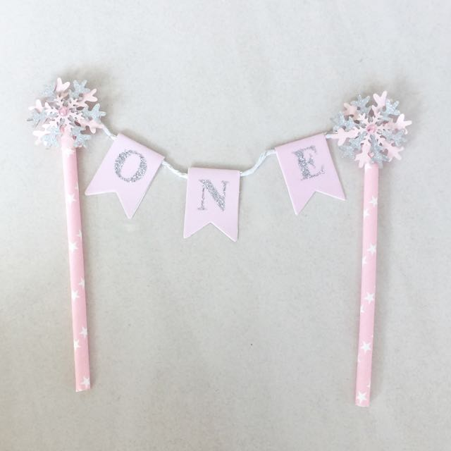 ONE Cake Topper With Glitter