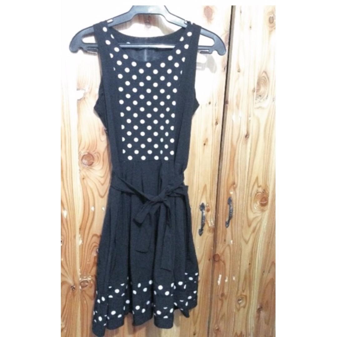 Polka Dots Dress Black and White