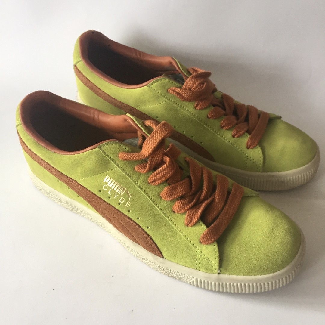 the best attitude 2f7b1 776ec Puma Clyde Green Glazed Ginger Brown, Men's Fashion, Men's ...