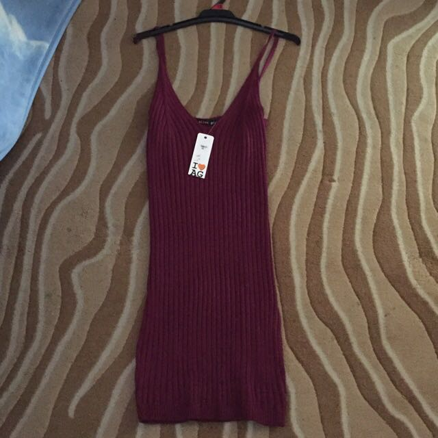 Purple Mini Knit Dress New With Tags Size M Medium 12