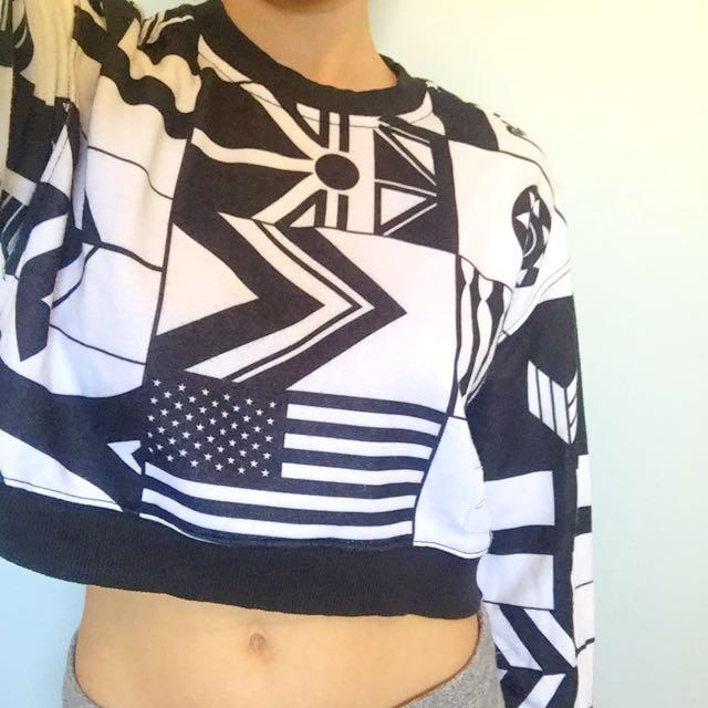 Reebok Classic X Melody Eshani Limited Edition Cropped Sweatshirt S