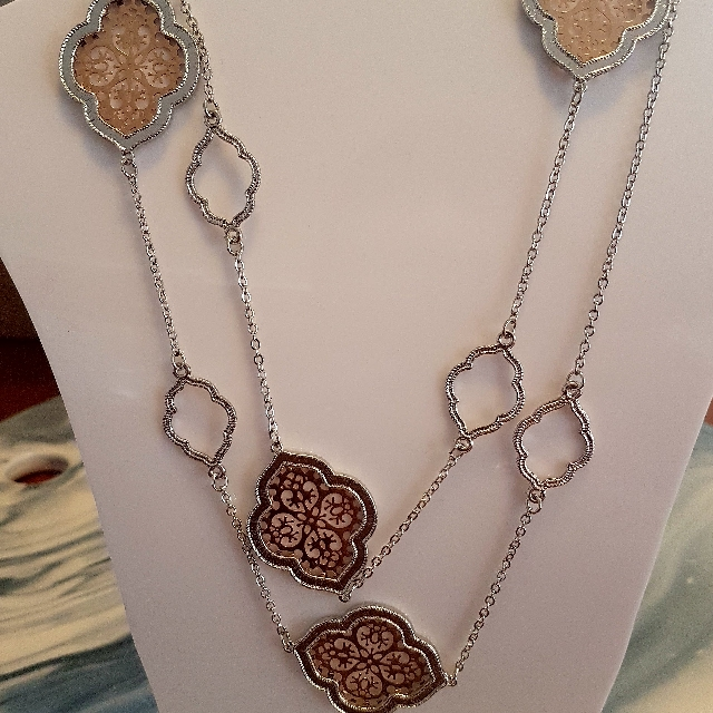 Rose Gold & Silver Long Necklace