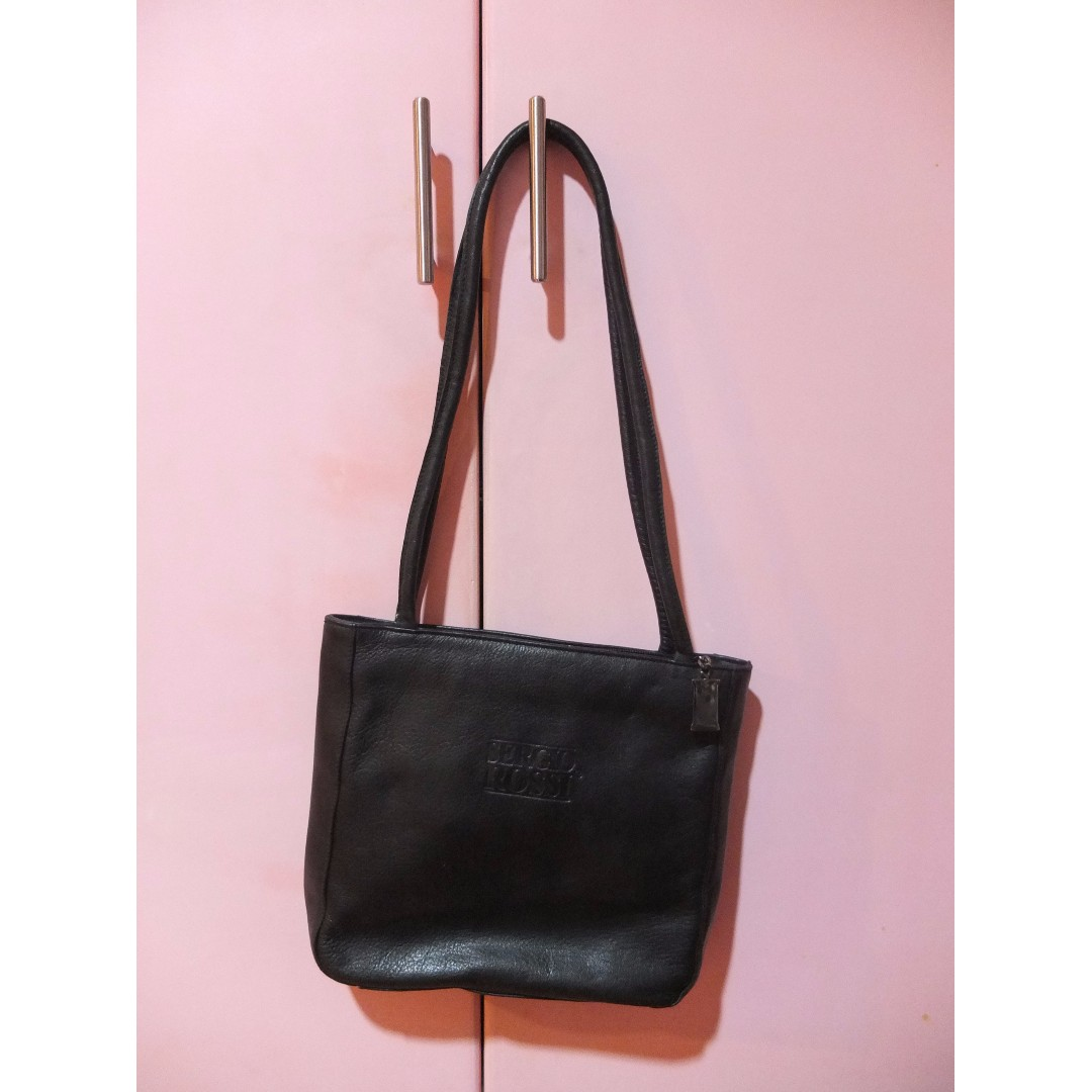 Sergio Rossi Black Leather Bag