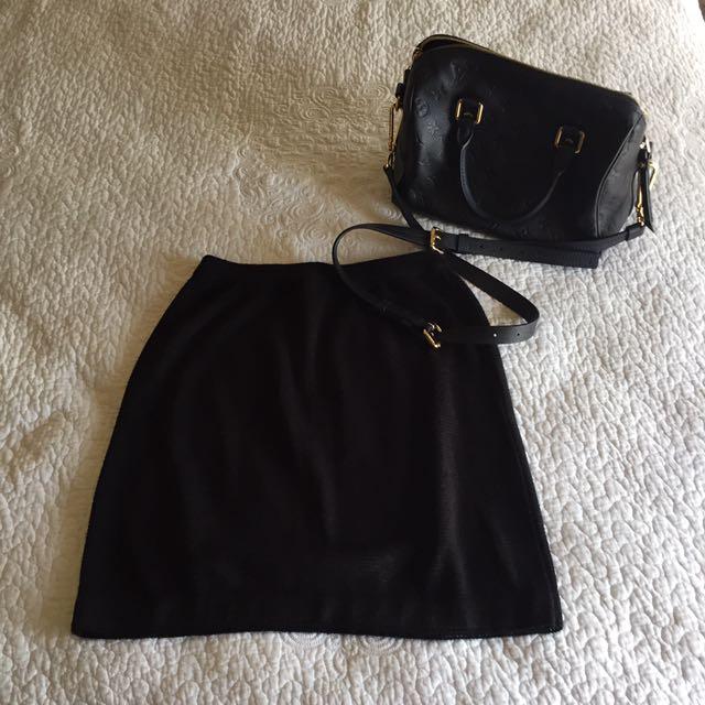 Stretch Knit Mini Skirt - S