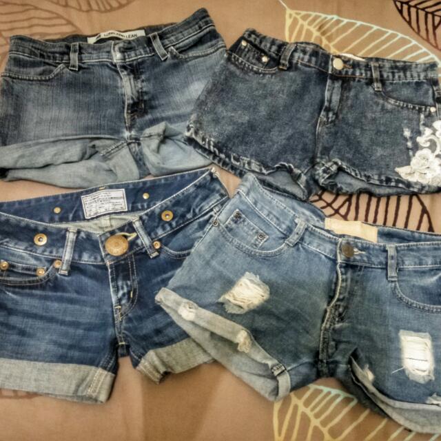 Take All 4! Denim Shorts