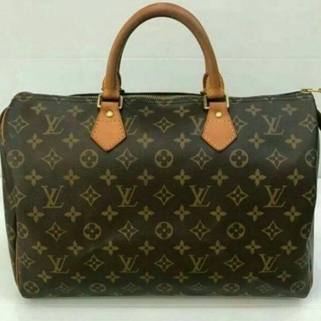 Tas Wanita Original Louis Vuitton Speedy 35 Second Preloved Authentic Bekas f1d2467836