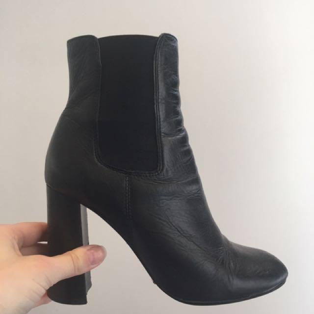 Tony Bianco Leather Boots Size 8