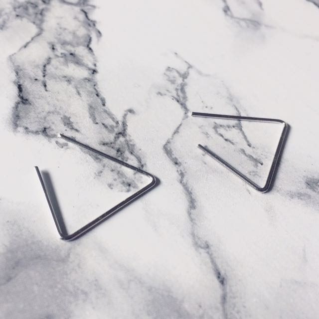 Triangle Cut Earring