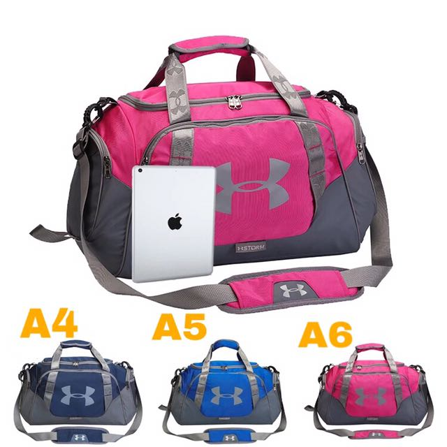 pink under armour duffle bag