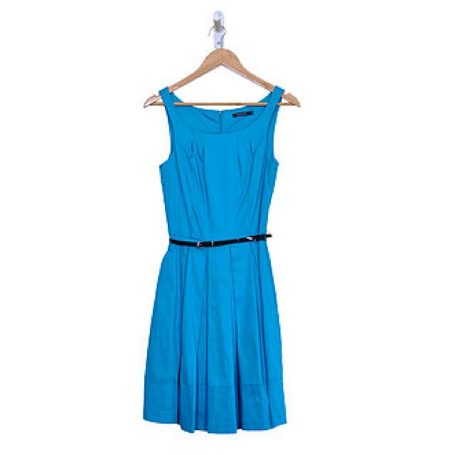 Vibrant Blue Belted Dress (6)