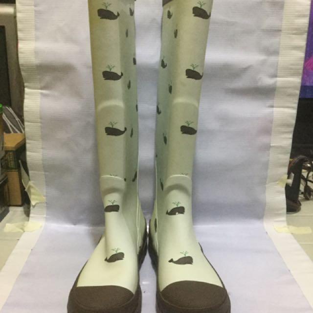 Whale Print Rain Boots
