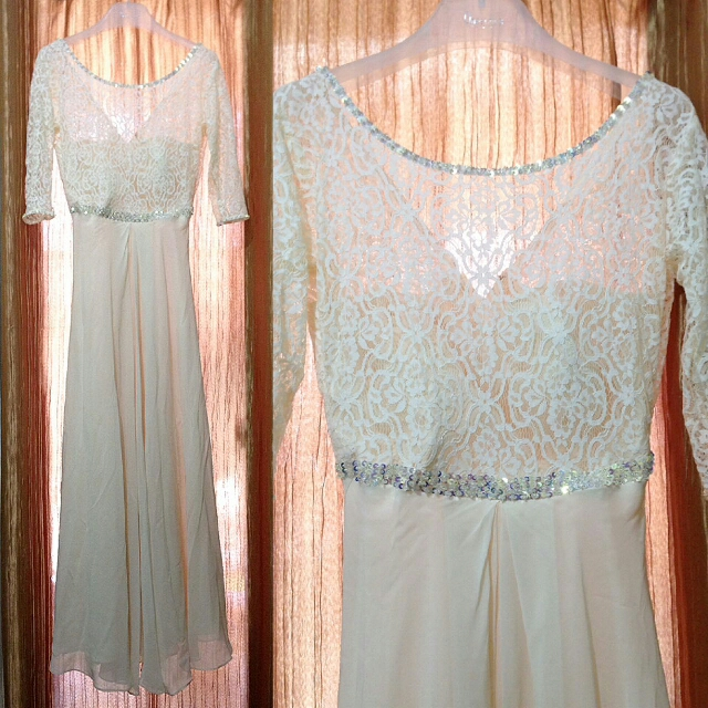 White Formal Lace Gown