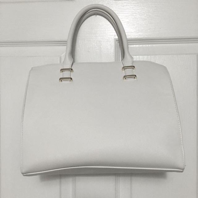 White Hand Bag