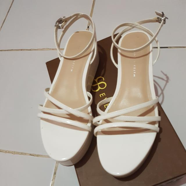 White Wedges Charles And Keith