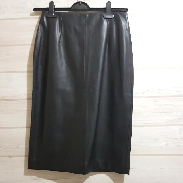 ZARA Faux Leather Midi Skirt Size M