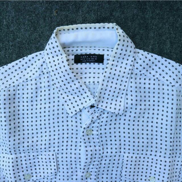 Zara Men Original White Long Sleeves