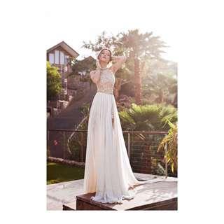 Elegant Slit Evening Dress