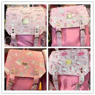 <預購>日本官方新款kitty 美樂蒂 雙子星背包