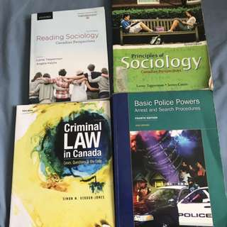 1st and 2nd Year Justice Studies Textbooks