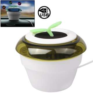 USB Powered Peace Grass Car Air Purifier - White