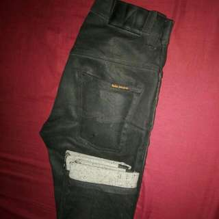 Authentic Nudie Thin Finn Black Coated