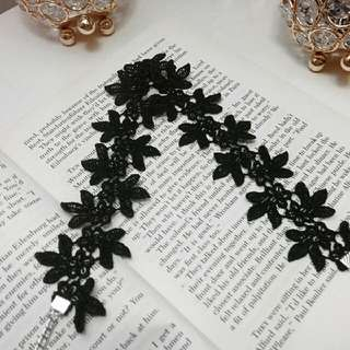 Handmade Black Floral Lace Choker