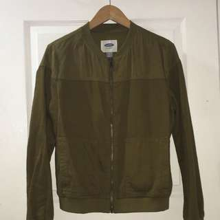 OLD NAVY Olive Green Lightweight Bomber Jacket