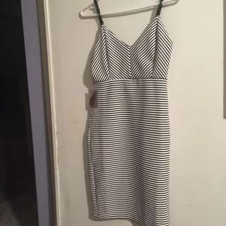 F21 Striped Bodycon Dress