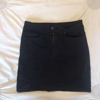 Goldie Black Denim Skirt