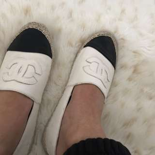 Black And White Chanel shoes
