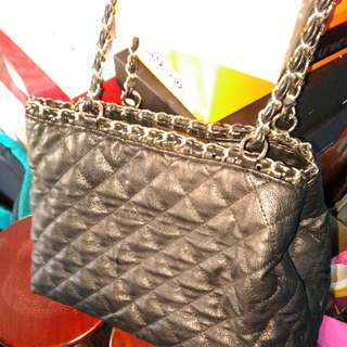 Le Chateau Quilted Pleather Purse