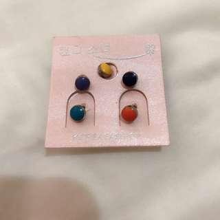 耳環(橙、黃、綠、靛、紫)