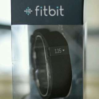 BRAND NEW FITBIT CHARGE HR- Black, Large