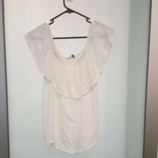 Cotton On White Off The Shoulder Top