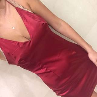 Red low back dress size 10