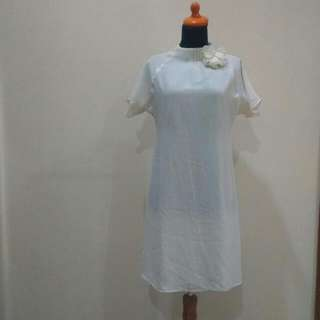Chiffon White Dress