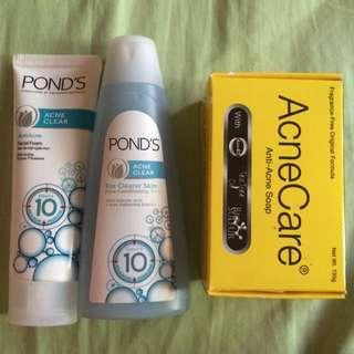 Ponds & AcneCare (Anti-Acne) Soap