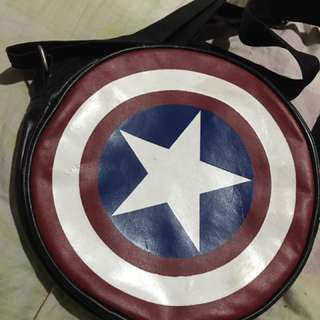 Captain America Shield Sling Bag Free Coin Purse
