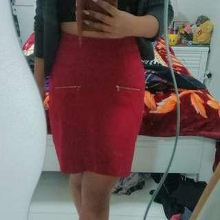 Red Work Skirt