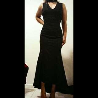 Choker Mermaid Style Formal Dress