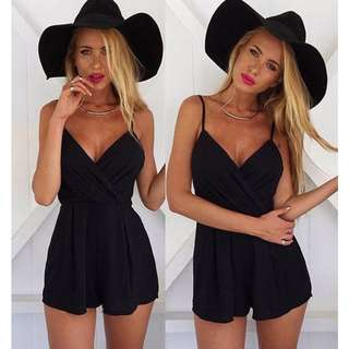 Sexy Black Playsuit