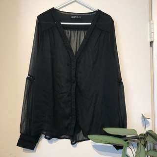 sheer cotton on blouse