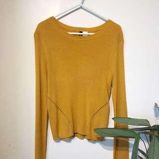 h&m mustard knit
