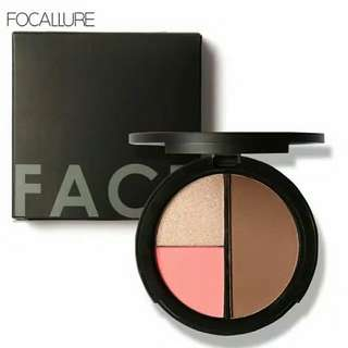 Focallure Trio Blush, Highlight, Dan Contour
