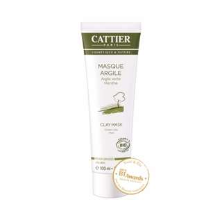 Cattier Green Clay Mint Face Mask, 100ml