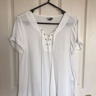 Forever New Lace Up Shirt