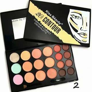 Kiss Beauty Correct, Concealer, Highlight Cream Pallet
