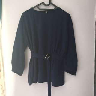Blouse Belt Biru