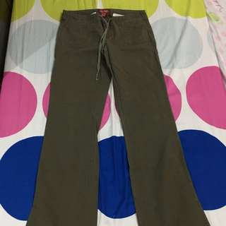 Full Army Green Cargo Pants